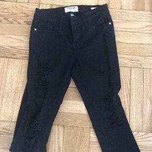 Black ripped frame le skinny de Jeanne jeans